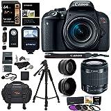 Canon EOS Rebel T7i Camera, EF-S 18-55 IS STM Lens Kit, Lexar 64GB, Ritz Gear Premium SLR Camera Bag, Polaroid Filter Kit, Flash and Accessory Bundle