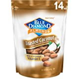 Blue Diamond Almonds Gluten Free Toasted Coconut Flavored Snack Nuts, 14 Oz Resealable Bag (Pack of 1)