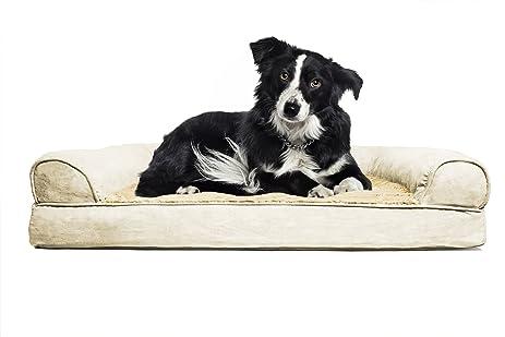 Amazoncom FurHaven Large Plush Suede Orthopedic Sofa Pet Bed