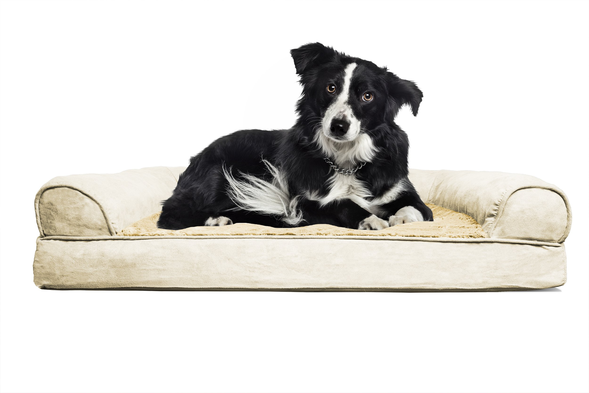 FurHaven Orthopedic Dog Sofa Bed Pet Bed Clay Large