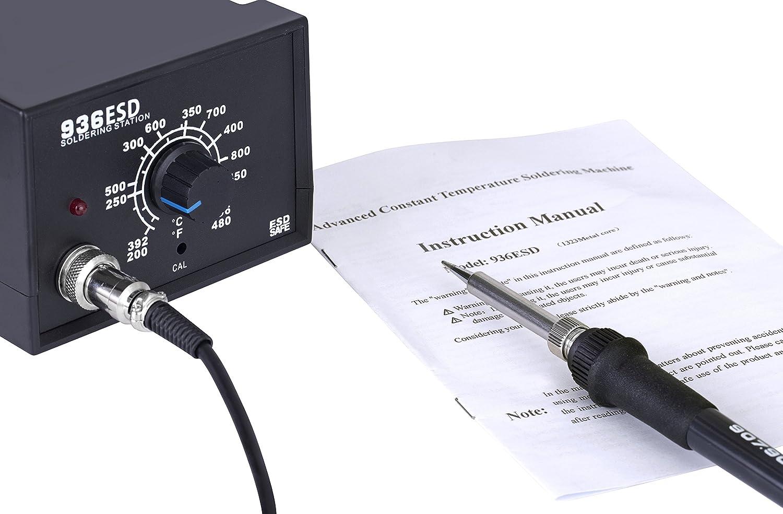 Katsu herramientas 312086 estación de soldadura electrónica, 400 grado: Amazon.es: Industria, empresas y ciencia