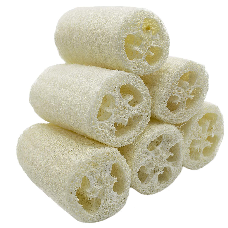 'D' Nature 6Pack luffa Luffa Spa esfoliante migliore luffa Body Wash spugna Rimuovere Dead Skin Sapone Multi Funzione (ca. 4) CESHUMD