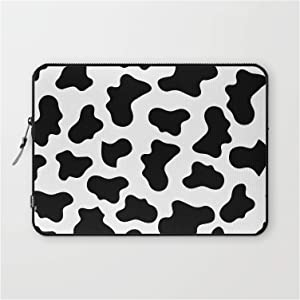 """Laptop Sleeve - Laptop Sleeve - 13"""" - Moo Cow Print by Kate + Co."""