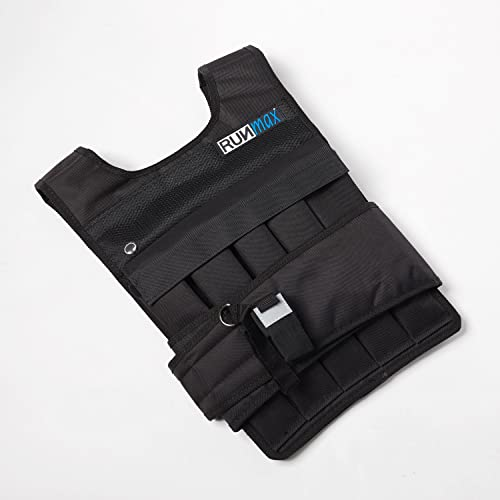 RUNmax Adjustable Weighted Vest – with Shoulder Pads