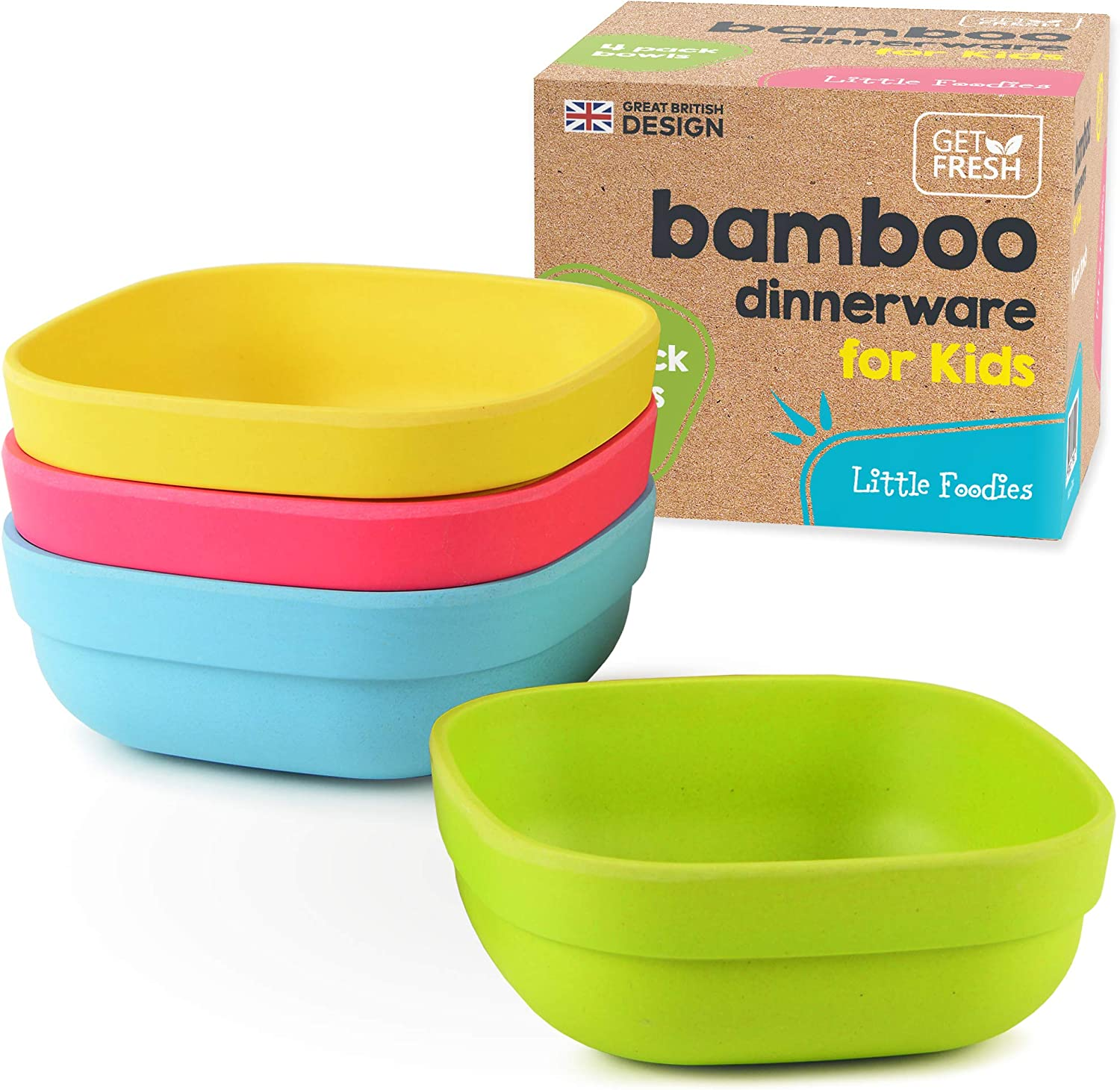 Details about  /Children Bowl  Lovely Green Bowl  Cutlery Bamboo Fiber Cutlery Baby