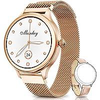 NAIXUES Smartwatch, Reloj Inteligente para Mujer, Reloj Deportivo Impermeable IP67 con Monitor de Sueño Pulsómetro…