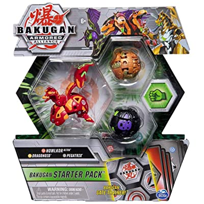 Bakugan Armored Alliance Starter Pack S2 - Pyrus Howlkor, Collectible Transforming Creatures, for Ages 6 & Up: Toys & Games