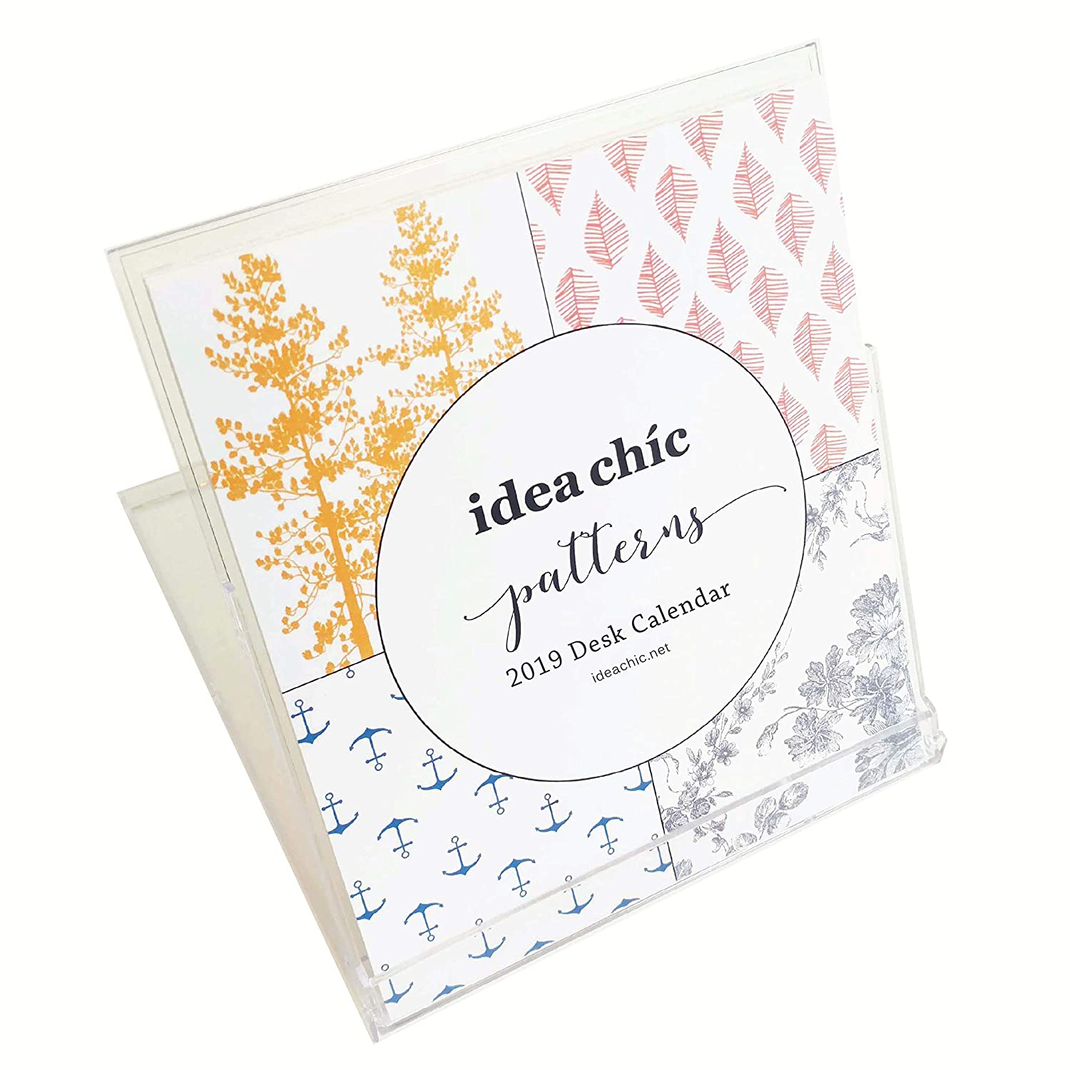 Idea Chíc Patterns 2019 Desk Calendar