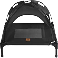 Charlie's Elevated Pet Bed Cot with Canopy Tent Trampoline Hammock in Red Grey Black Small Medium Large X Large (Small…