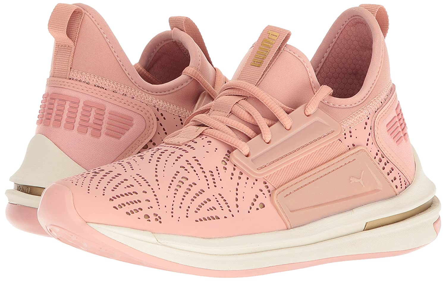 PUMA Women's Ignite Limitless SR Lazercut Wn Sneaker B0721MQJHL 6.5 M US|Peach Beige-gold