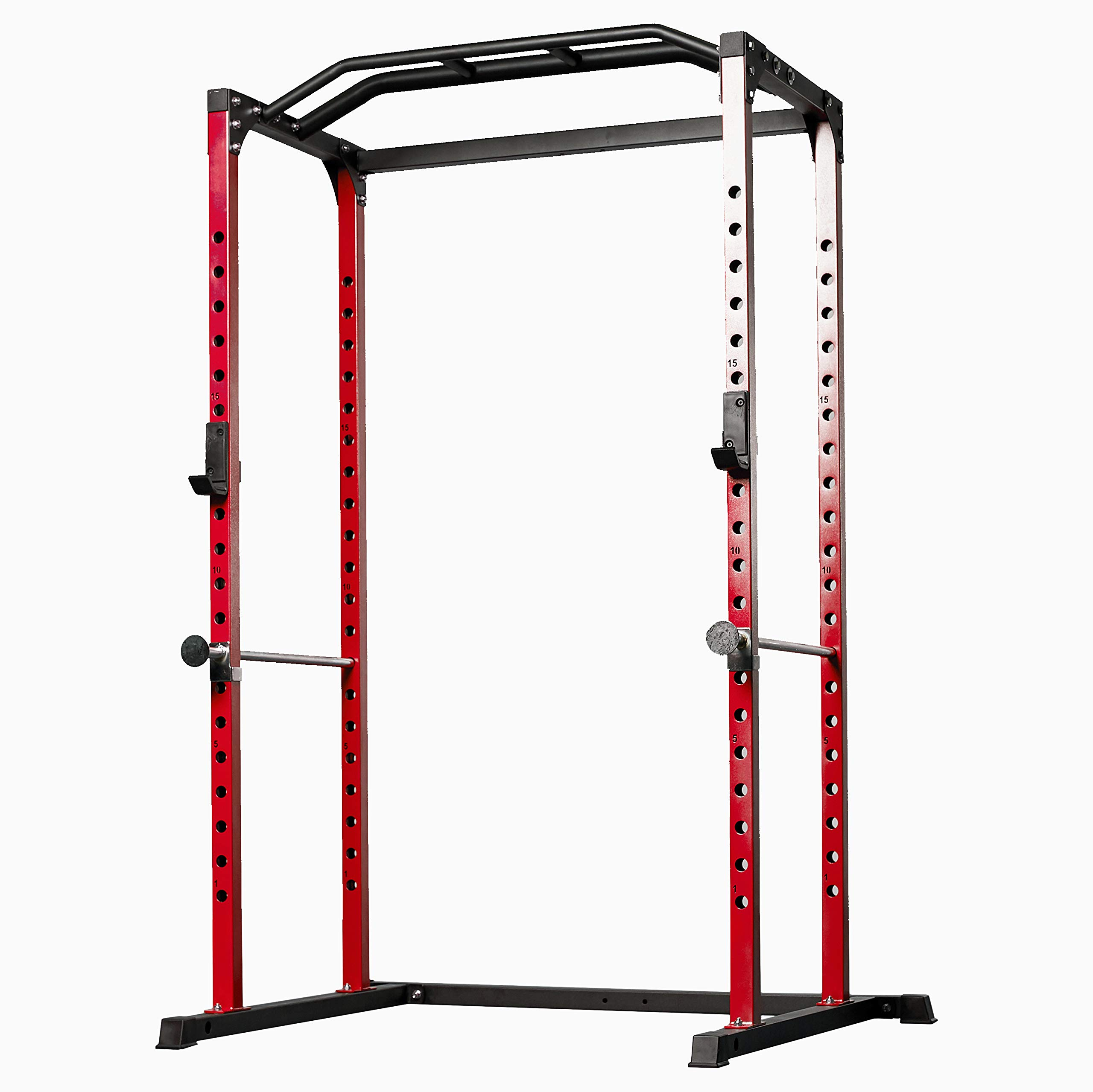 Rep PR-1100 Power Rack - 1,000 lbs Rated Lifting Cage for Weight Training (Red Power Rack, No Bench)