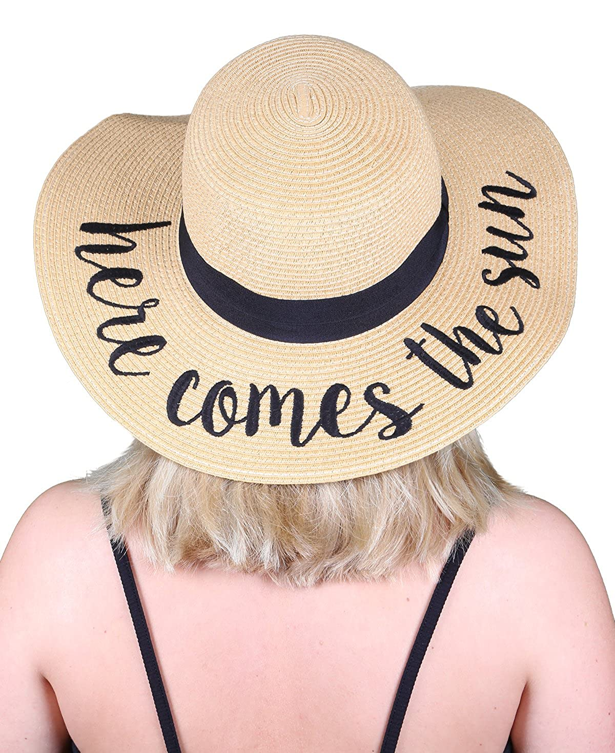 H2017aov Embroidered Sun Hat  Always On Vacay At Amazon Women's Clothing  Store: