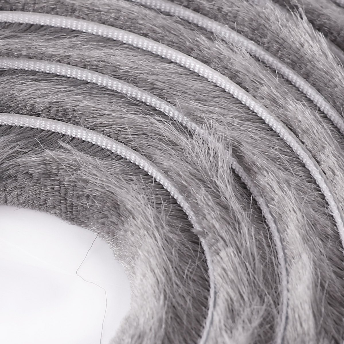 H9mm FURNICA 5m B/ürstendichtung Grau Selbstklebend