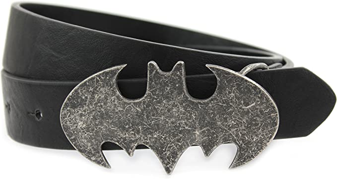 Kids Batman V Superman Leather Belt with Batman Plate Buckle DC Comics Age 10 13