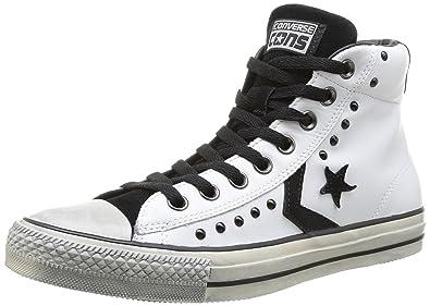 recherche de véritables le plus fiable pourtant pas vulgaire 146743C CONVERSE étoile blanche joueur ev chaussures hi peau ...