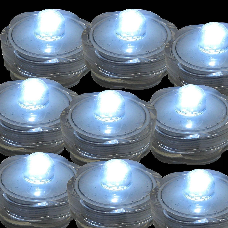 TDLTEK防水水中LEDライトティーライト、ウェディング、パーティー、装飾( 12ピースピンク) 12 Pack TDLSBLIGHT00604 B0716J65H9 12 Pack ホワイト ホワイト 12 Pack