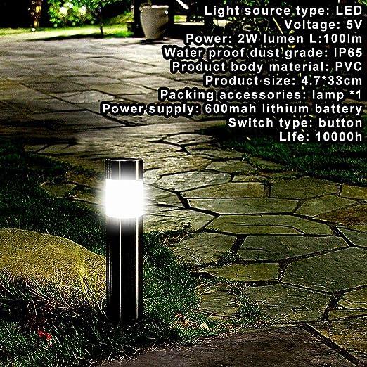10 Unids Acero Inoxidable LED Lámpara De Césped Solar Al Aire Libre Jardín Camino Luz De Césped Bolardo Solar Luz Blanca Luz LED Lámpara Solar: Amazon.es: Iluminación