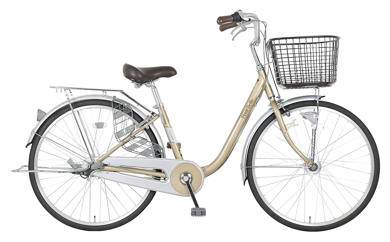 marukin(マルキン) 完全組立 24インチ自転車 LEDオートライト プチベル ピンク MK-18-017 B078JC4B6Zライトゴールド