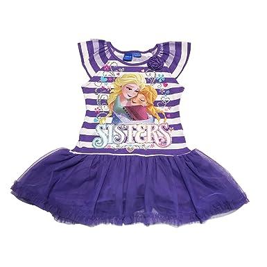 Disney Frozen Elsa And Anna Big Girls Sleeveless Tutu Dress LARGE 10 12