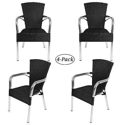 Pleasant Amazon Com Luckyermore Ultra Light Aluminum Wicker Chair Spiritservingveterans Wood Chair Design Ideas Spiritservingveteransorg
