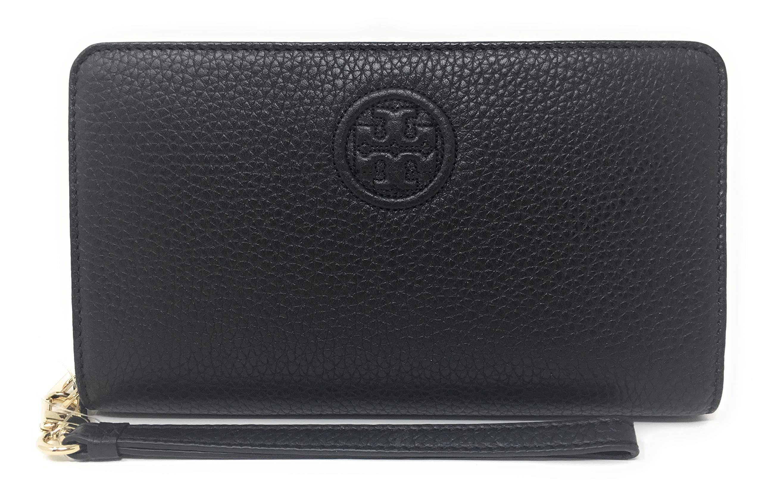 Tory Burch Women's Bombe Smartphone Leather Wristlet (Black)