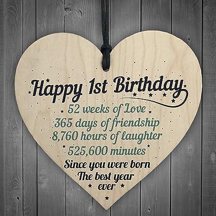 JamieFox 1st First Birthday Baby Daughter Son Grandson Grandaughter Nephew Niece Family Gifts