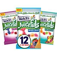 Welch's Juicefuls Juicy Fruit Snacks, Mixed Fruit, Berry Blast & Island Splash Fruit Gushers Variety Pack, Gluten Free…