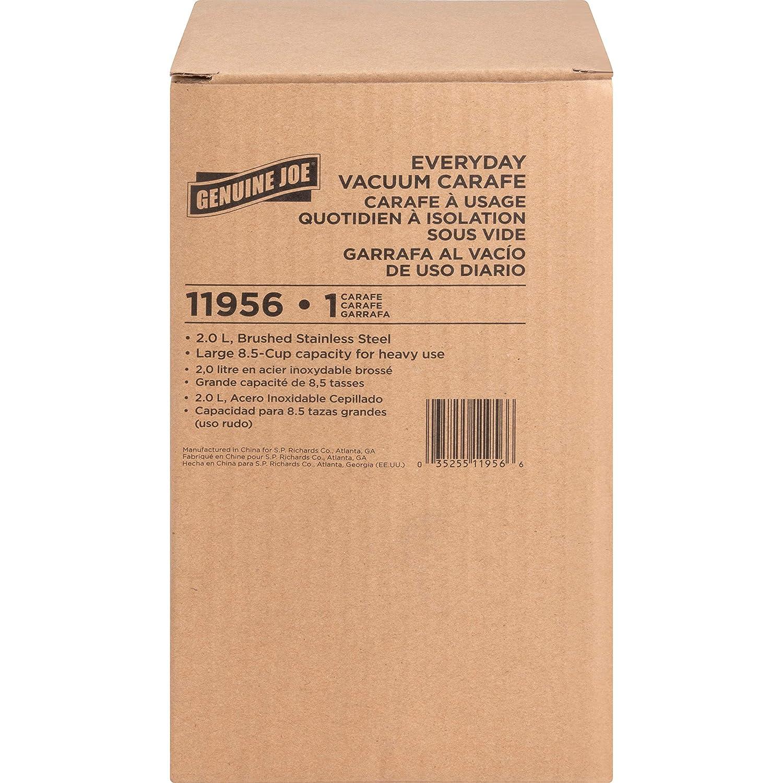 Vacuum Stainless Steel 2.11 Quart Genuine Joe Everyday Double Wall Vacuum Carafe