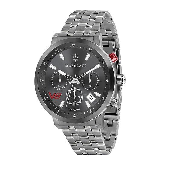 MASERATI Reloj Cronógrafo para Hombre de Cuarzo con Correa en Acero Inoxidable R8873134001: Amazon.es: Relojes