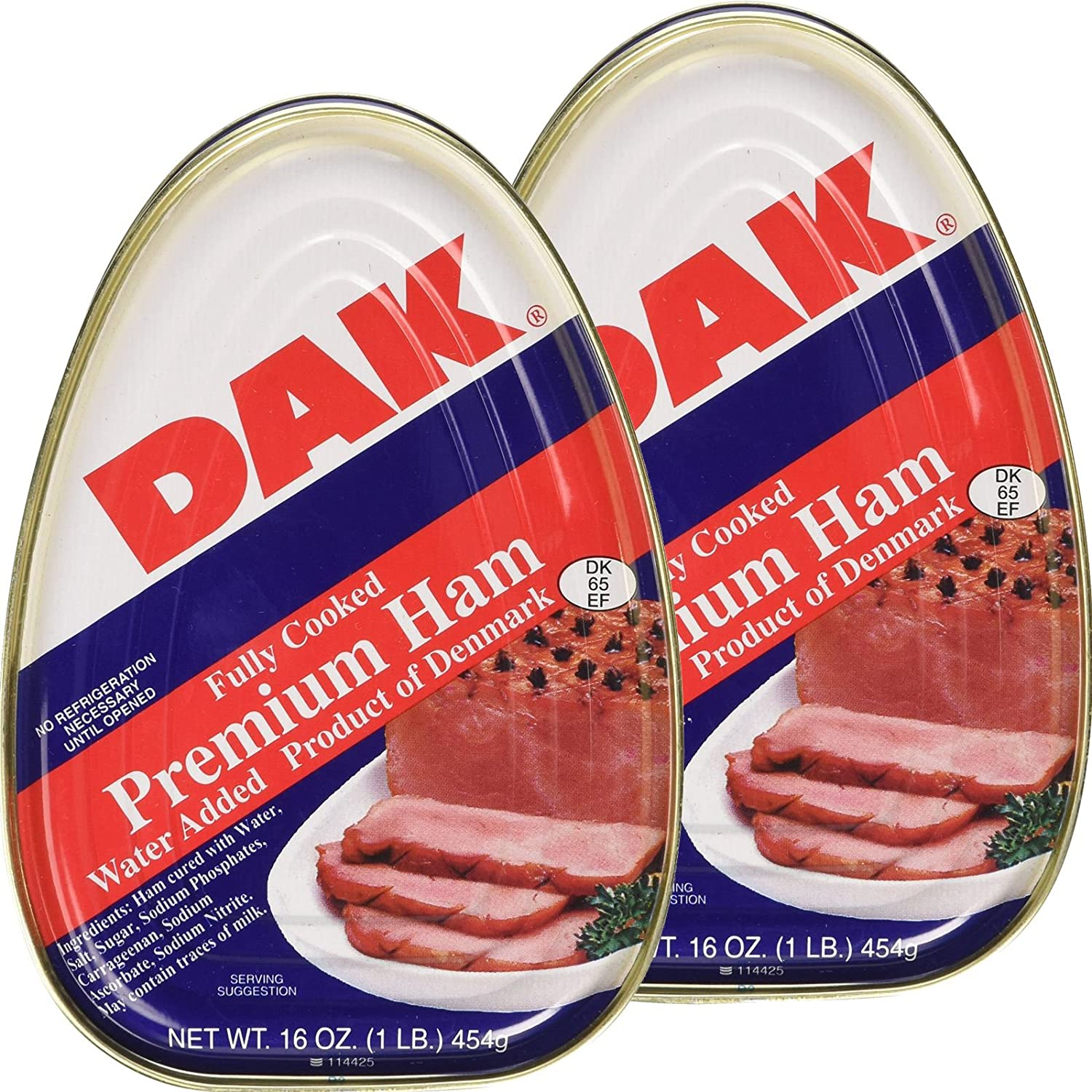 Dak Premium Canned Ham 16oz Fully Cooked, Ready to Eat (2 Pack)