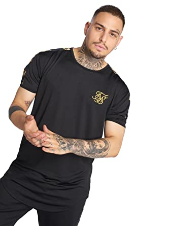 SIK SILK Mens Gym T-Shirt, Black, X-Small