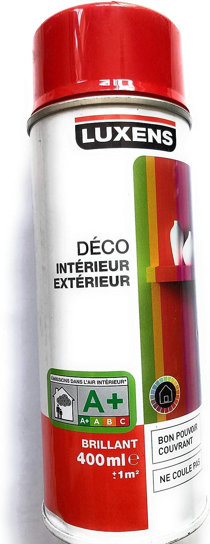 Peinture Rouge Ref 3 Brillante Luxens 400ml En Aerosol Amazon Fr Bricolage