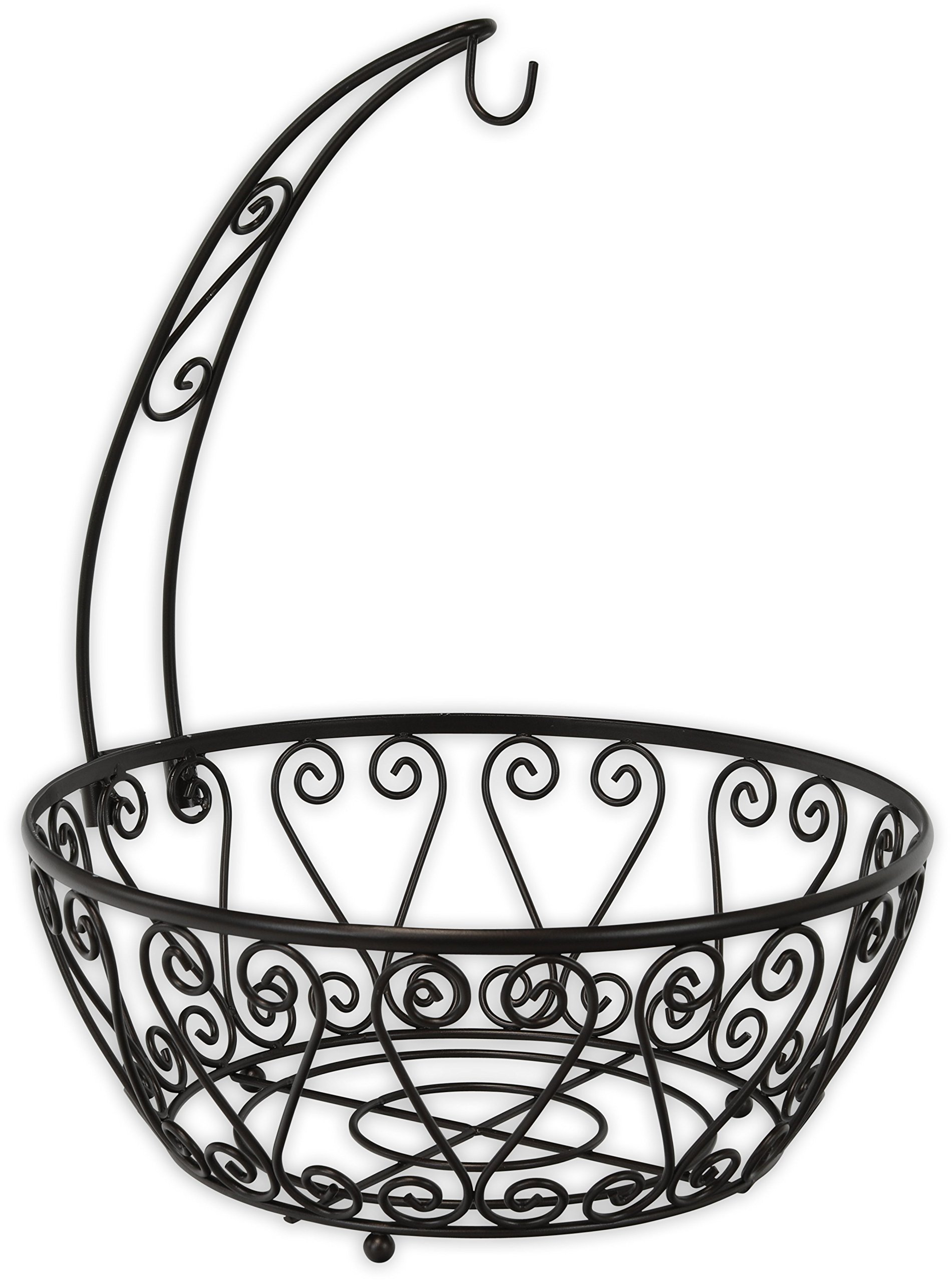 SimpleHouseware Fruit Basket Bowl with Banana Tree Hanger, Bronze by Simple Houseware (Image #2)