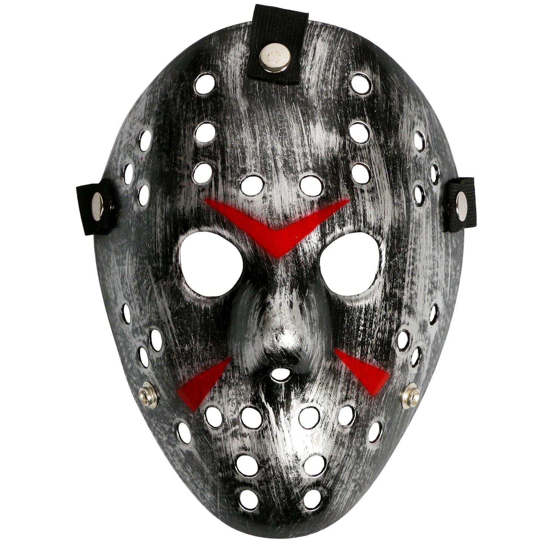 Costume Prop Horror Hockey Mask Halloween Myers Black Eyes CASACLAUSI