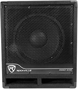 Rockville Bass Gig Active Powered PA Subwoofer DJ/Pro 1200 Watt, 10 inch (RBG10S)