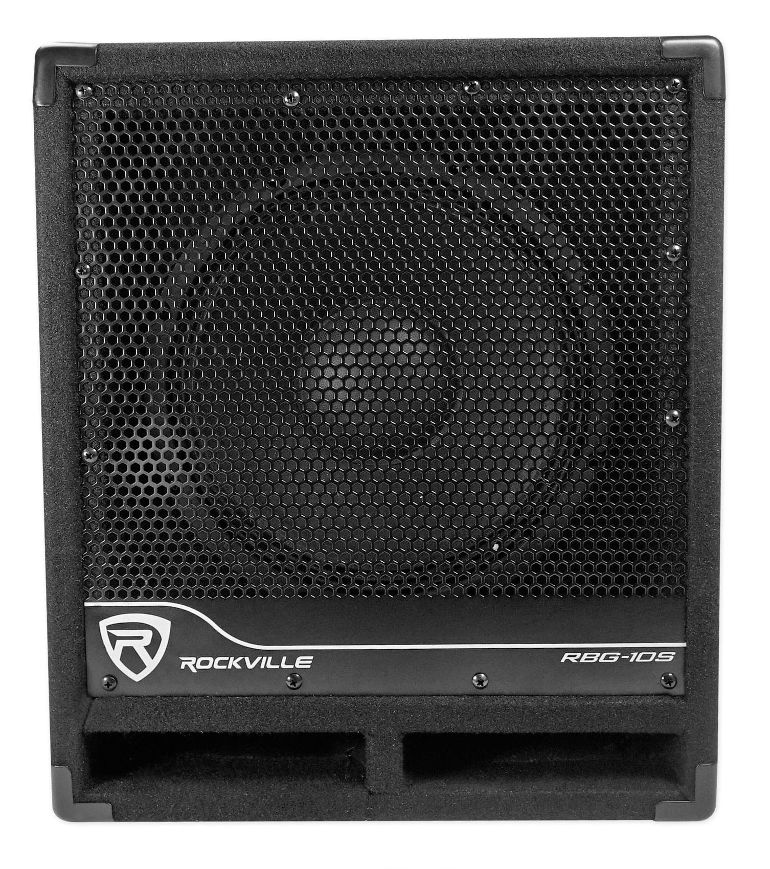 New Rockville RBG10S 10'' 1200w Powered Subwoofer Sub for Church Sound Systems by Rockville