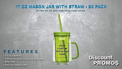 24 pcs Summer In Paradise Design Personalized Mason Jar Drinking Glass JM365294