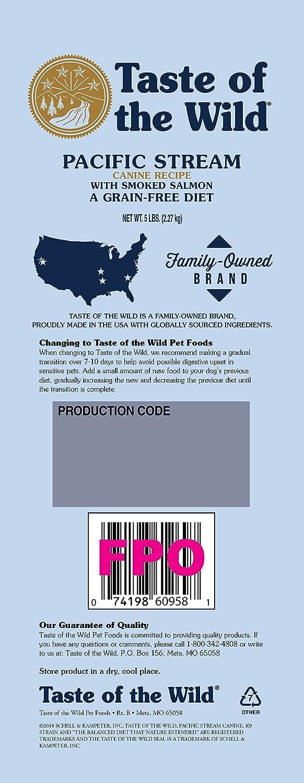 Taste of the Wild Grain Free Pacific Stream Canine Formula Pet Dog Food 5lbs: Amazon.es: Productos para mascotas