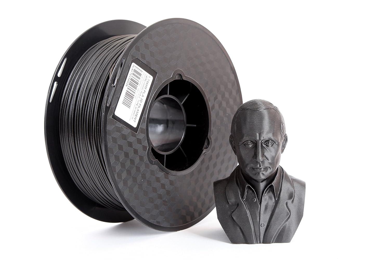 1758 de fibra de carbono 3d impresora filamento negro Color 1 KG ...
