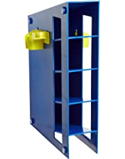 Heathrow Scientific HD20612M Blue Abs Plastic Magnetized Manual Pipette Rack, 291mm Length X 88mm Width X 401mm Height