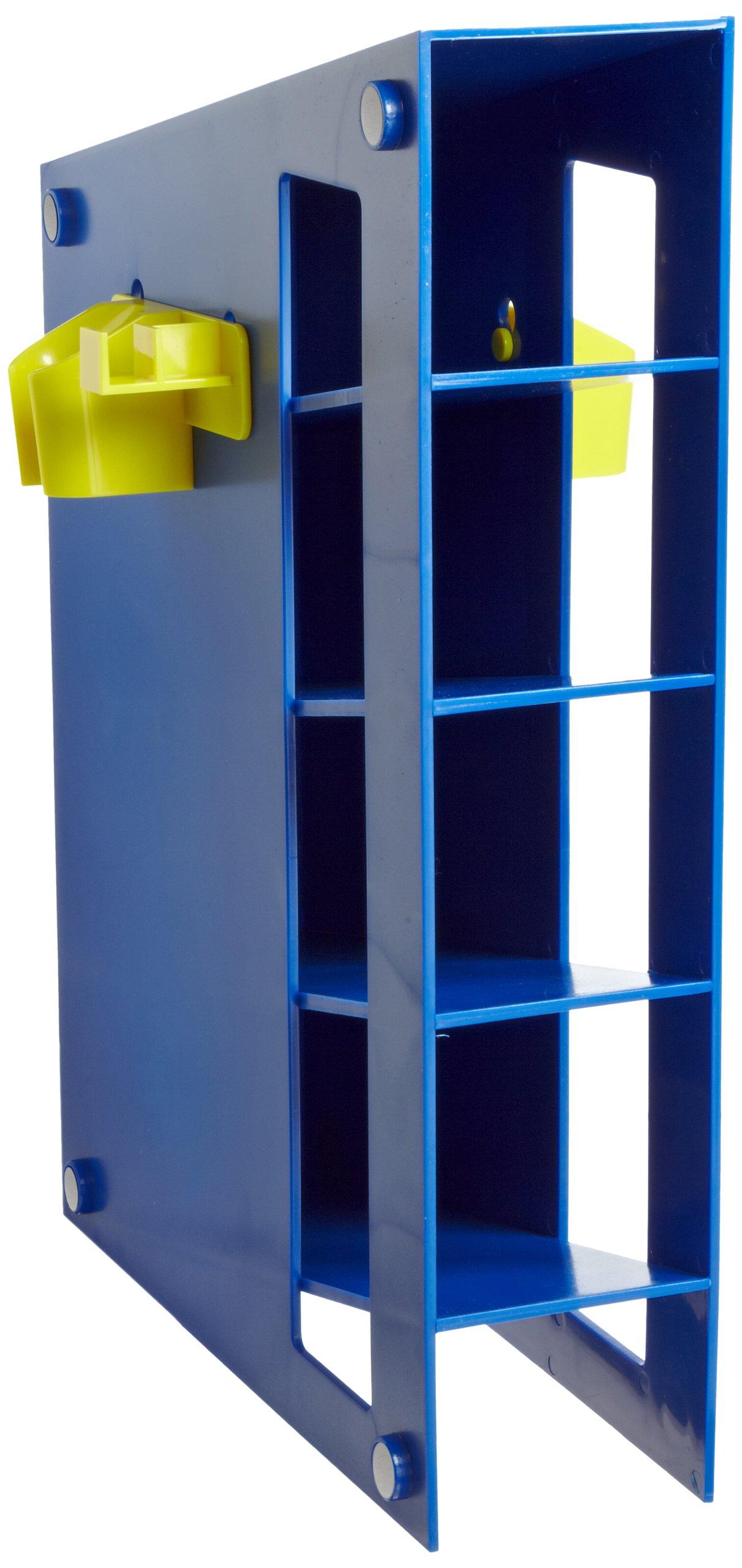 Heathrow Scientific HD20612M Blue ABS Plastic Magnetized Manual Pipette Rack, 291mm Length x 88mm Width x 401mm Height by Heathrow Scientific