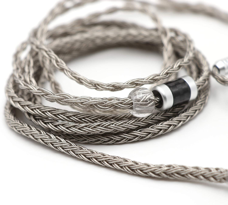 1m Cable redondo transparente 4x0,50mm RGB silver