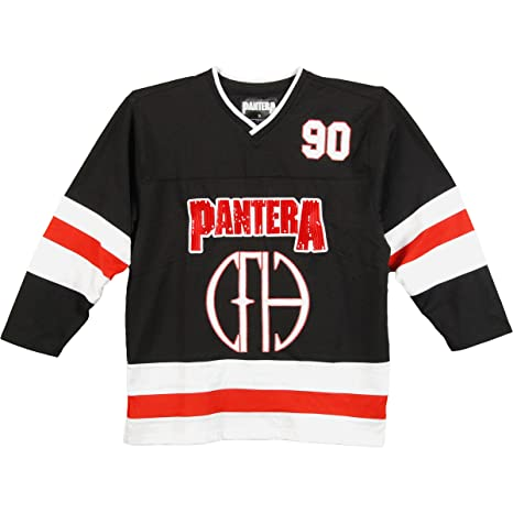 123ad795a Pantera - Cowboys From Hell Cut N Sew Adult Replica Hockey Jersey -  X-Large  Amazon.ca  Clothing   Accessories
