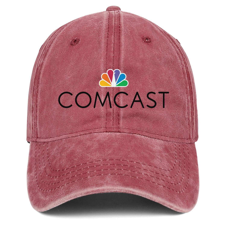 G8TYG9Q Mens Womens Caps Comcast Logo Hat Snapback Fishing Denim Cap Adult Hats