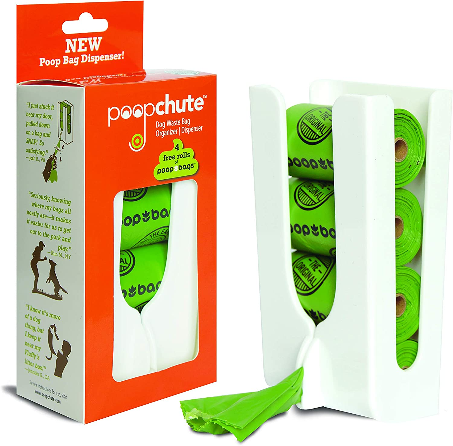 Pet Waste Bag Dispenser with 4 Free Rolls Poop Bags: Amazon.co.uk: Pet  Supplies