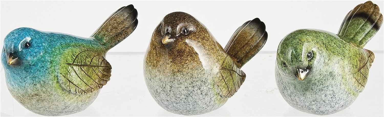 Ganz Polystone Leaf Birds Figurine Home Decor Set of 3 Assorted