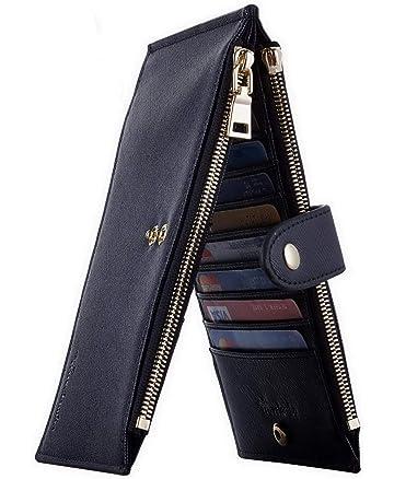 3b51c01c045c84 Travelambo Womens Walllet RFID Blocking Bifold Multi Card Case Wallet with  Zipper Pocket