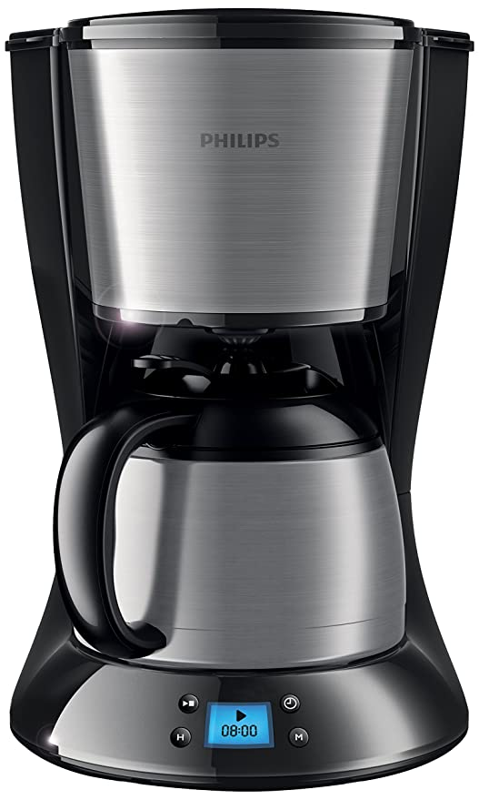 Philips HD7479/20 - Cafetera de goteo, 1.2 l, 1000 W, color negro