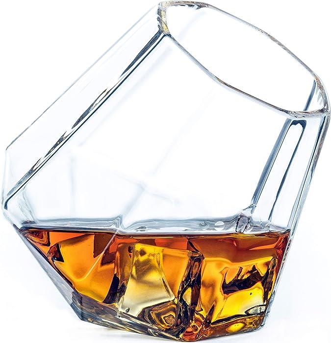 Dragon Glassware Diamond Whiskey Glasses, Premium Designer Tumblers for Spirits and Wine, 10-Ounces, Gift Boxed - Set of 2