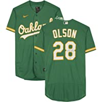 $349 » Matt Olson Oakland Athletics Autographed Green Nike Authentic Jersey - Autographed MLB Jerseys